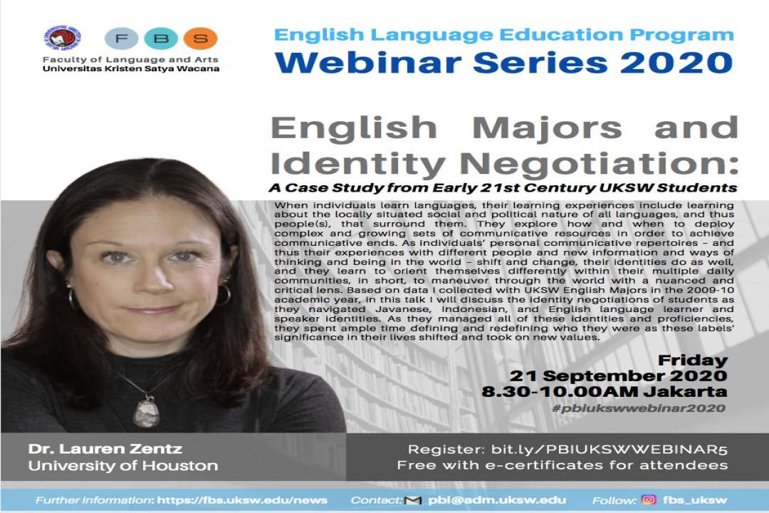PBI UKSW Webinar Series 2020: English Majors and Identity Negotiation: A Case Study from Early 21st