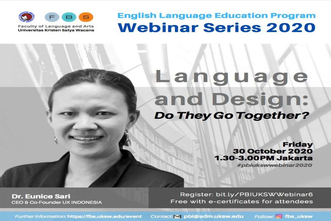 PBI UKSW Webinar Series 2020: Language and Design Do They Go Together?