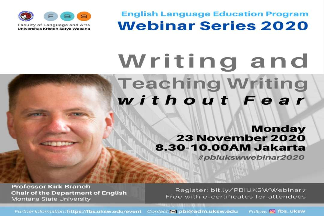 PBI UKSW Webinar Series 2020: Writing and Teaching Writing without Fear